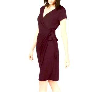Inc International Concepts faux wrap dress burgundy XL NWT